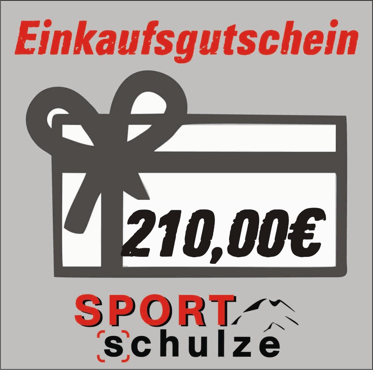 210€ Einkaufsgutschein